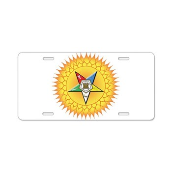 OES In the Sun Aluminum License Plate