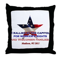 I Rallied - Flag Star Throw Pillow