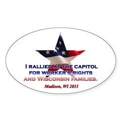 I Rallied - Flag Star Decal