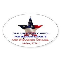 I Rallied - Flag Star Sticker (Oval 10 pk)