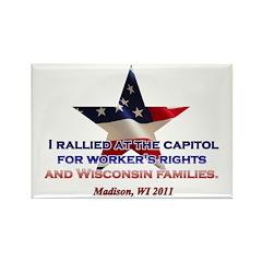 I Rallied - Flag Star Rectangle Magnet (10 pack)