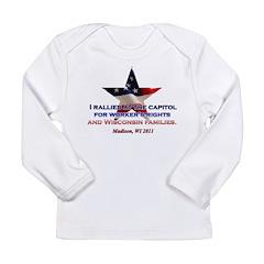 I Rallied - Flag Star Long Sleeve Infant T-Shirt