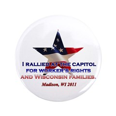 """I Rallied - Flag Star 3.5"""" Button (100 pack)"""