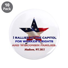 """I Rallied - Flag Star 3.5"""" Button (10 pack)"""