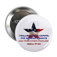 "I Rallied - Flag Star 2.25"" Button (100 pack)"