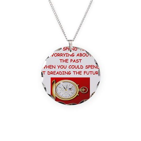 new age psychology joke Necklace Circle Charm