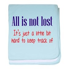 All is not Lost baby blanket