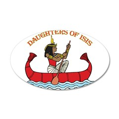 Daughters of Isis 22x14 Oval Wall Peel