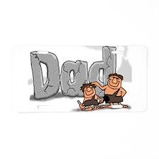 Dad Rocks Aluminum License Plate