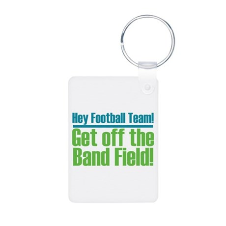 Marching Band Field Aluminum Photo Keychain