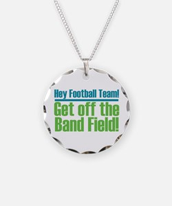 Marching Band Field Necklace Circle Charm