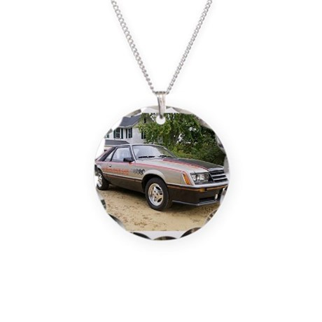 Mustang Pace Car Necklace Circle Charm