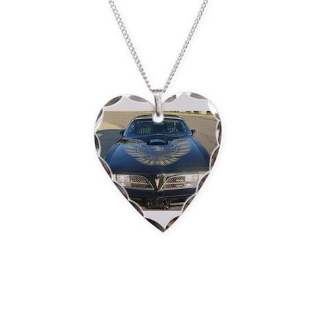 Firebird Trans Am Front Necklace Heart Charm