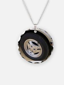 Mustang Wheel Rim Necklace