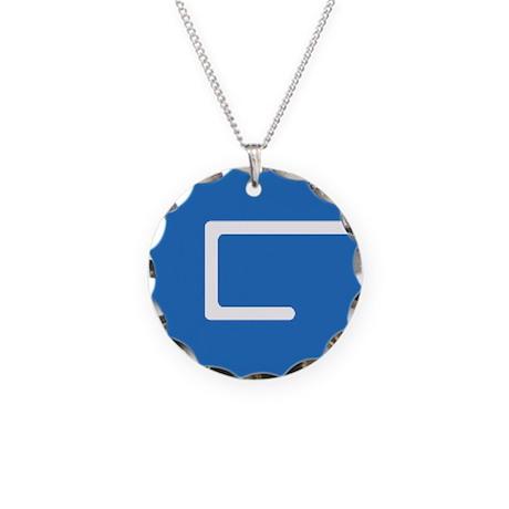 Gulf Small Logo Necklace Circle Charm