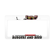 Beer & Burgers License Plate Holder