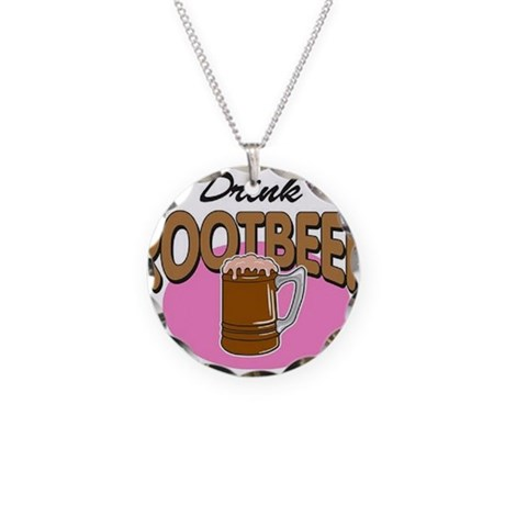Drink RootBeer Necklace Circle Charm