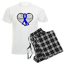 Heart Collage Colon Cancer Pajamas
