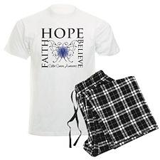 Colon Cancer Hope Believe Pajamas