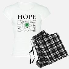 Faith Hope Liver Cancer Pajamas
