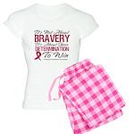 Multiple Myeloma Bravery Women's Light Pajamas