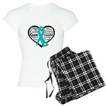 Heart Ovarian Cancer Women's Light Pajamas