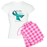 For My Hero Ovarian Cancer Women's Light Pajamas