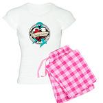 Ovarian Cancer Tattoo Ribbon Women's Light Pajamas