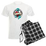 Ovarian Cancer Tattoo Ribbon Men's Light Pajamas