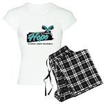 Hope Butterfly Ovarian Cancer Women's Light Pajama