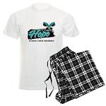 Hope Butterfly Ovarian Cancer Men's Light Pajamas