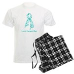 Ovarian Cancer Courage Men's Light Pajamas