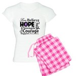 Pancreatic Cancer Hope Women's Light Pajamas