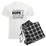 Pancreatic Cancer Hope Men's Light Pajamas