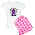 Pancreatic Cancer Warrior Women's Light Pajamas