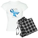 Hero Ribbon Prostate Cancer Women's Light Pajamas