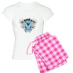 Grunge Prostate Cancer Women's Light Pajamas