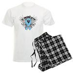 Grunge Prostate Cancer Men's Light Pajamas