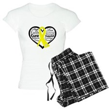 Sarcoma Cancer Heart Pajamas