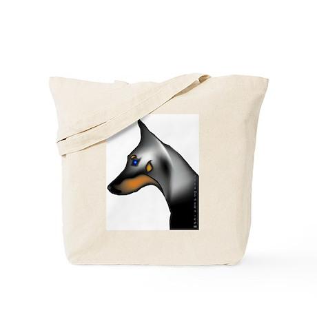 Doberman Headstudy Tote Bag