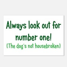 Dog is Not Housebroken Postcards (Package of 8)