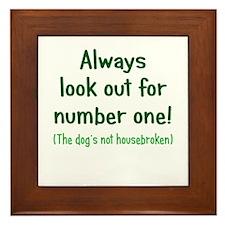 Dog is Not Housebroken Framed Tile