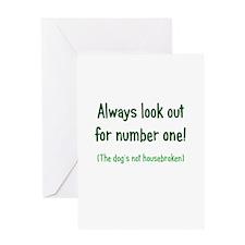 Dog is Not Housebroken Greeting Card