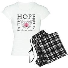 Hope Faith Breast Cancer Pajamas