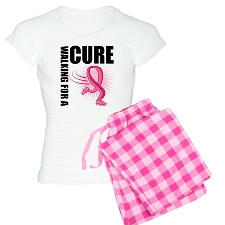 WalkingForACure PinkRibbon Women's Light Pajamas