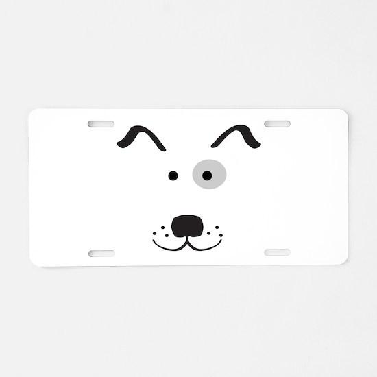 Cartoon Dog Face Aluminum License Plate