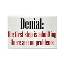First Step of Denial Rectangle Magnet (10 pack)