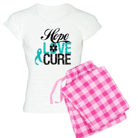OvarianCancer HopeLoveCure Women's Light Pajamas