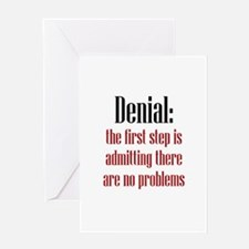 First Step of Denial Greeting Card