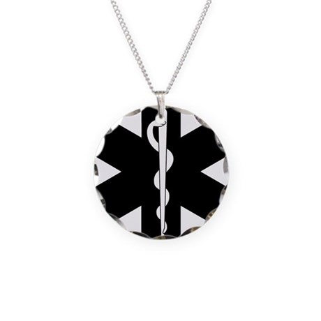 EMS Star of Life Necklace Circle Charm